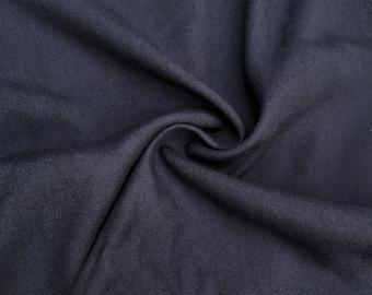"60"" Dark Blue 100% Lyocell Tencel Gabardine Eco-Friendly Medium Weight Woven Fabric By The Yard"