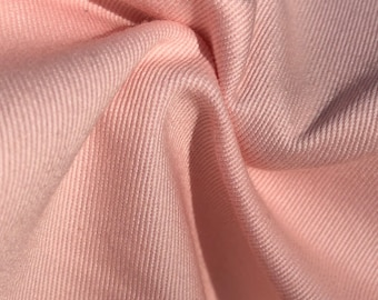 """60"""" 100% Pink Cotton Twill 8 OZ Apparel &  Woven Fabric By the Yard"""