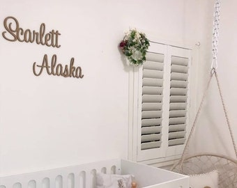 Childrens Wooden Name Sign Unpainted