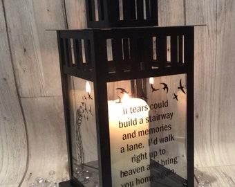 Memorial lantern, photo lantern, if we could build a stairway and a memories , wedding, wedding memorial