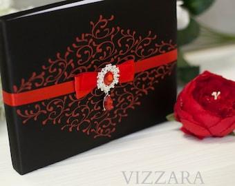 Red Black Wedding Etsy