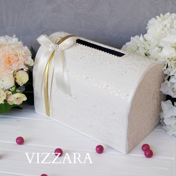 Wedding Money Box Ivory Wedding Card Box Gift Card Holder Wedding Card Box Wedding Accessories Vintage Wedding Ideas Decor Box Card