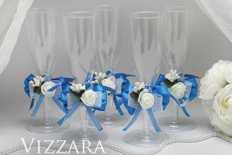 Plastic Champagne Glass Royal Blue Wedding Plastic Flute Glass Etsy