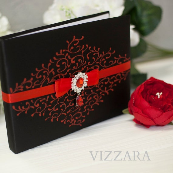 Weddings Guest Book Black Weddings Unique Guest Book Ideas Red Etsy