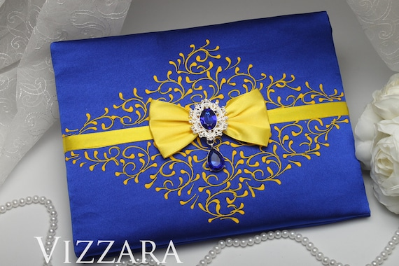 Guest Book Royal Blue Wedding Ideas Personalized Guest Book Etsy