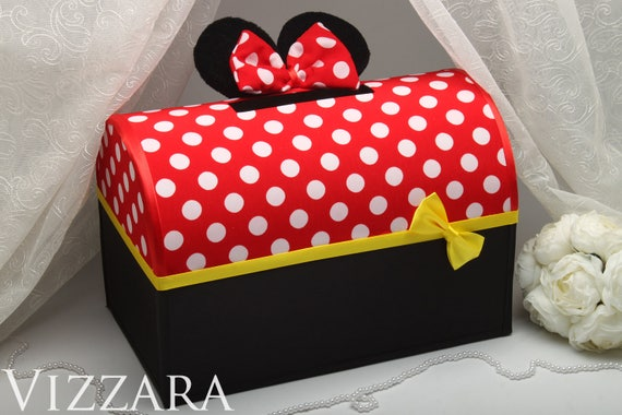 Birthday Card Box Mickey Valentine Card Box Wedding Money Box Etsy
