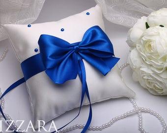 rustic ring bearer pillow Wedding Pillow Ring Bearer Wedding Decor White wedding Bearer Pillow set blue wedding ideas Gold Wedding Royal set