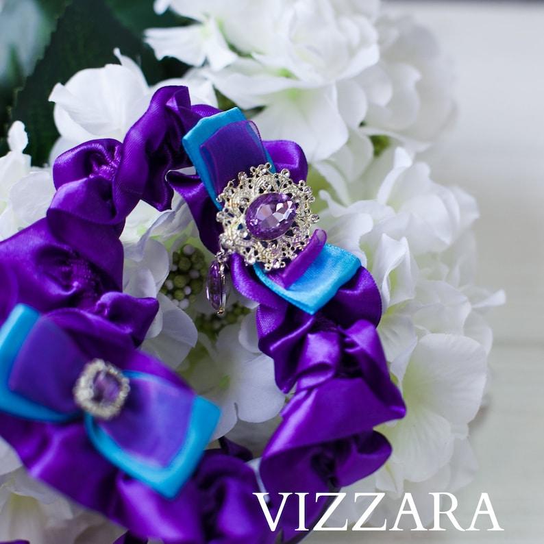 271614036 Wedding garter Purple weddings Plus size wedding garter