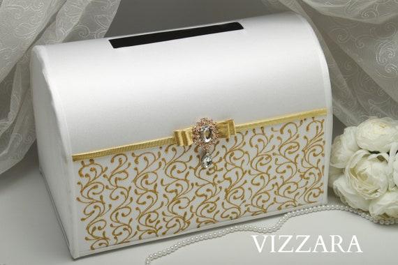 Wedding Card Box Ideas White And Gold Wedding Gold Wedding Etsy