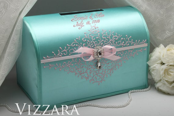 Wedding Money Boxes Wedding Mint Money Box For Wedding Mint Etsy