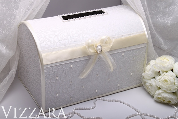 Ivory Wedding Card Box ideas Wedding Money Box Wedding Gift | Etsy