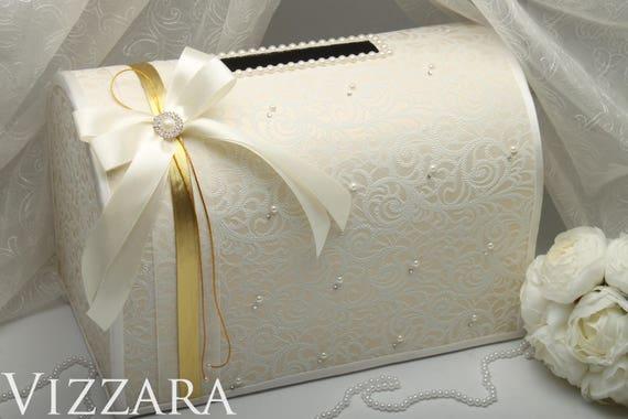 Wedding Money Box Ivory Wedding Card Box Gift Card Holder   Etsy