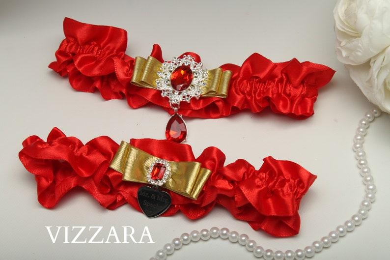 sale retailer 70756 81727 Strumpfband Hochzeit Strumpfband rot und gold Hochzeits Plus Größe  hochzeitsstrumpfband Gold und rot Hochzeit rot Hochzeitsfarben rot, rot und  Gold