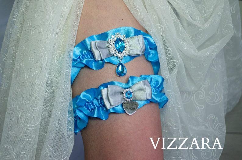Wedding garter sets Turquoise and grey wedding Garters wedding Turquoise wedding ideas Garter sets for wedding Turquoise wedding colours