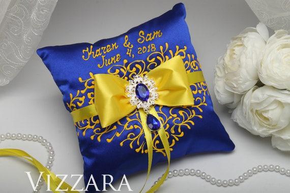 Ring bearer pillow royal blue wedding ideas ring bearer pillow etsy image 0 mightylinksfo