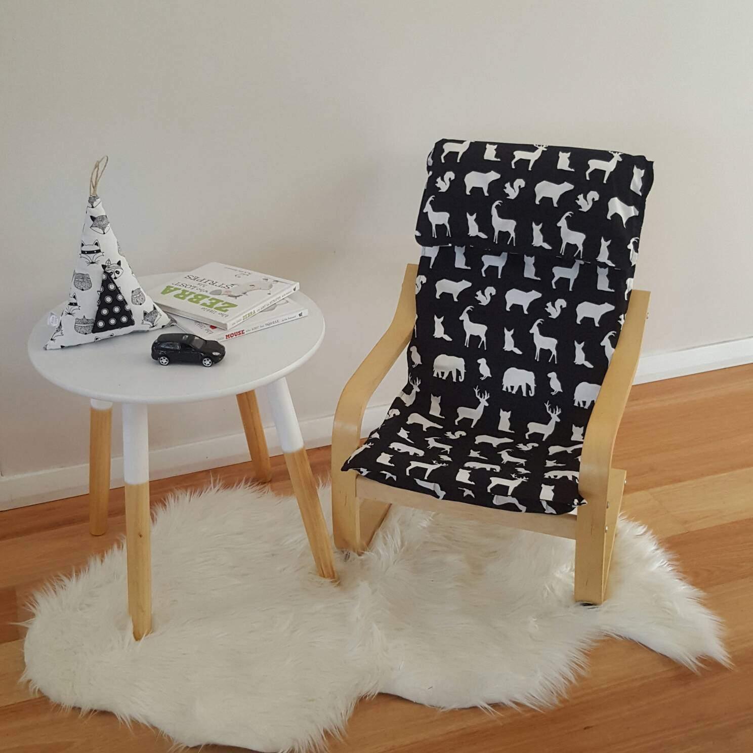 ikea chaise lamelle/poang couverture/enfants | etsy