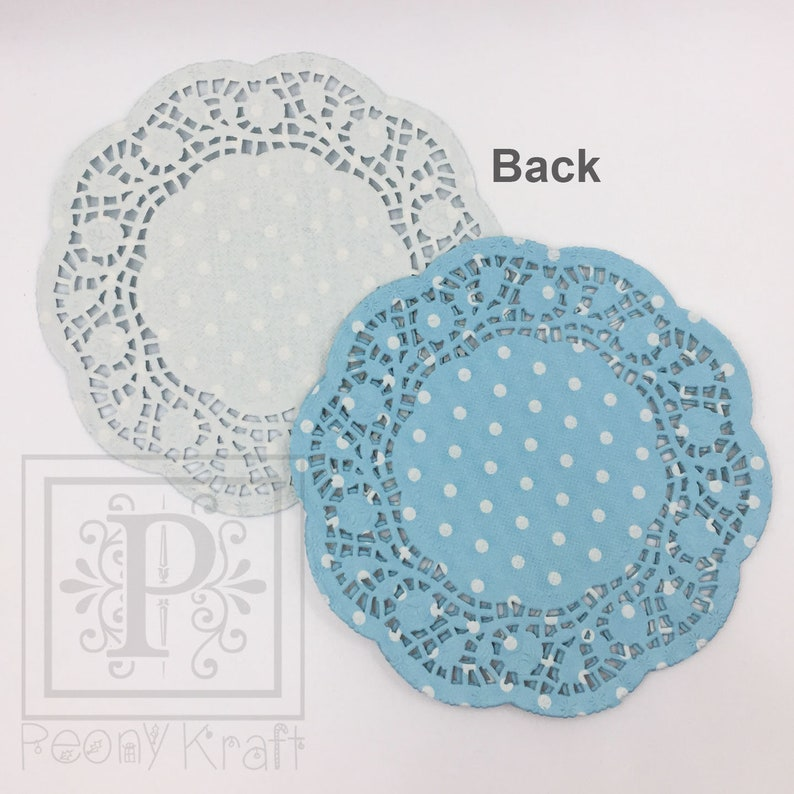 Scrapbooking Paper Doilies 5 12 Blue Polka Paper Doilies 80 or 100 Sheets Cupcake Paper Doilies Blue Paper Doilies 20 60 40