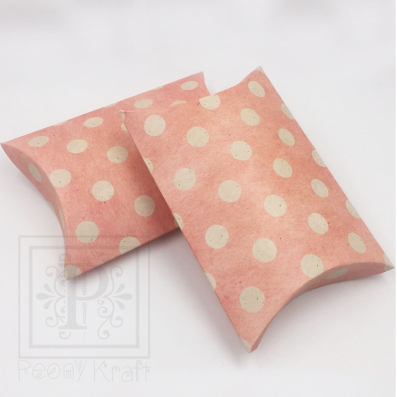 Holiday Gift Boxes Wedding Pillow Boxes Blue Pillow Boxes Baby Shower Pillow Boxes Size 5 12\u201d x 4\u201d x 1\u201d Polka Dot Pillow Boxes 10pcs