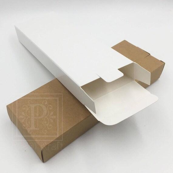 Lot de de 50 - boîtes de Lot produits cosmétiques, livre marque boîtes, boîtes de Rectangle, mariage faveur de boîtes, coffrets cadeaux de vacances, Kraft coffrets, boîtes blanches e3f5c1