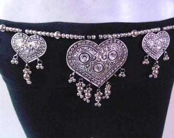 Tribal fusion Bellydance Belt , Hip scarf Waist jewelry Kuchi Belt , Ethnic Belt , Banjara Belt , Gypsy Belt , Belly dance Belt , Boho Belt