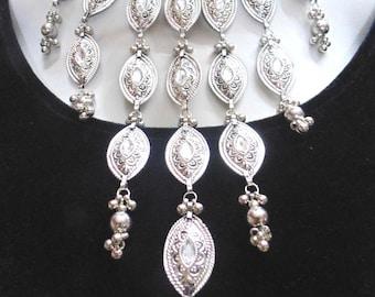 ethnic Indian oxidized bellydance banjara necklace tribal kuchi gypsy boho