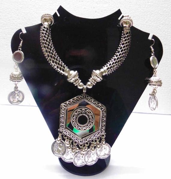 belly Dance gypsy kuchi banjara goth boho jewelry|oxidized necklace Tribal ethnic jewelry necklace Afghani Jewelry