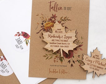 Details about  /Dove and Banner Vintage Style Save The Date Wooden Wedding Magnet  Invitation