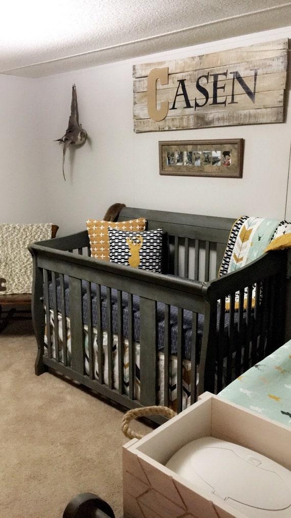 Navy And Gold Crib Bedding Set Nursery Bedding Baby