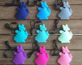 Silicone Kangaroo Pendant Necklace - Variety of Colours