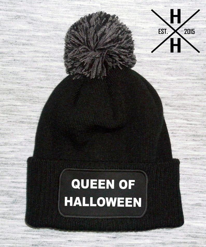 3b89d755ee7df Queen of halloween bobble hat queen of halloween beanie hat