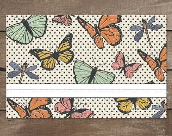 Butterfly Dry-Erase Activity Placemat