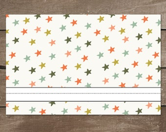 Star Dry-Erase Activity Placemat