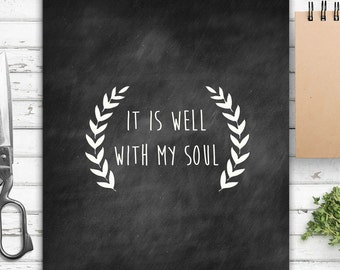 It is Well, Hymn, Vintage Inspired, Farmhouse Style, Rustic Decor