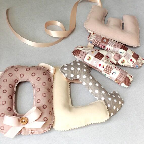 Guirlande Prenom Déco Chambre Bébé Fille Prénom Tissu