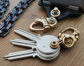 Sweden Brass Key Chain + Ti-Bike-Link/II