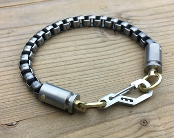 Cal.9mm Bracelet, Keychain  or Wallet Chain / Natural