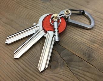 Titanium Bike Link Key carabiner key chain