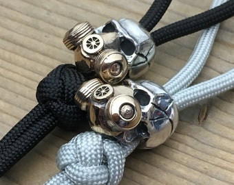 knife landyard Bead / The Skull Mask / Silver Sterling-Bronze