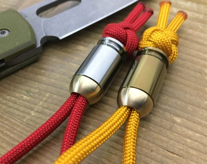 Titanium Landyard Bead Bullet