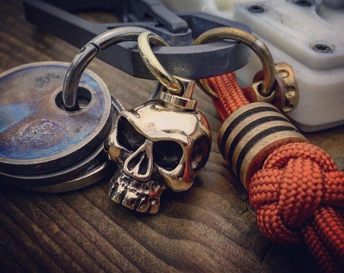 Rotating Skull Monkey Pendant Bead