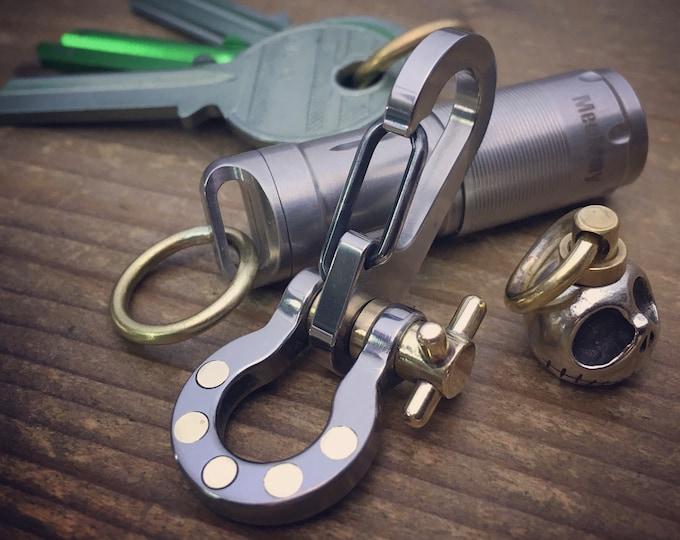 Edc Titanium Sailor Shackle-Clip keychain