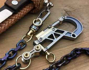 Bolt Carabiner / Walletchain - Keychain with one  Ti-Swivel-II