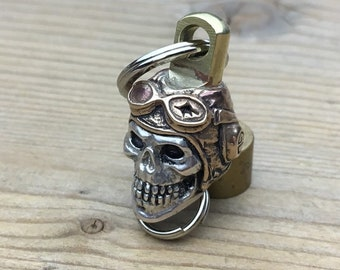 Swivel  Connector  / Skull Pilot/  for key or wallet chain.