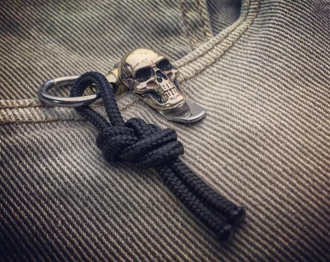 Pocket EDC Keychain Suspension Clip / One-off Custom TOP / Human Skull