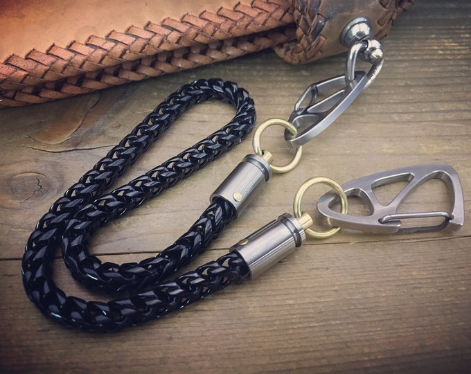 Small Wallet Chain / Bi-Swivel / Black Platted - Bi-Swivel Cal.9 mm
