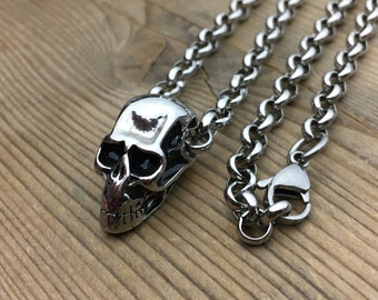 Necklace with skull pendant / Stainless Steels