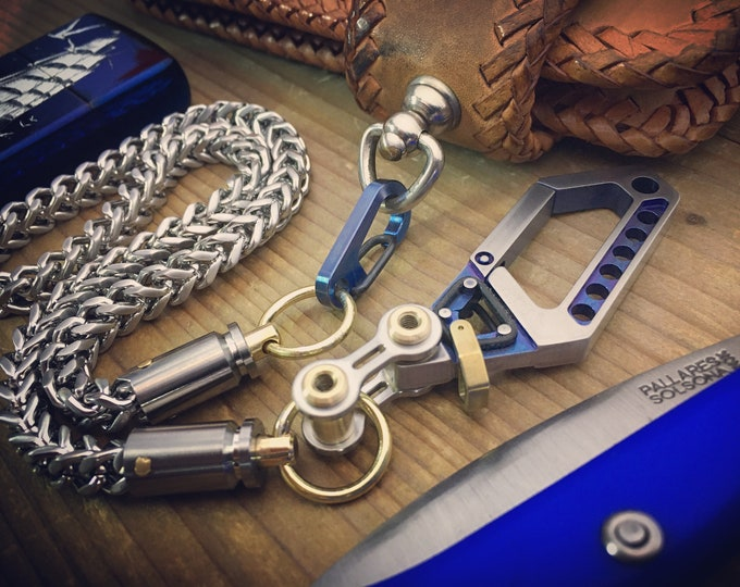 Biker Walletchain / Titanium S.Steels Bi-Swivel