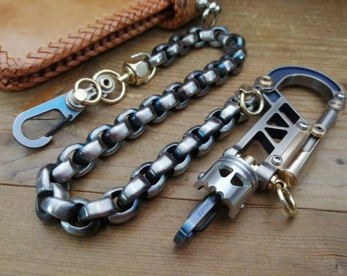 Top Game / The old burning wheels  Ti-Bolt Carabiner Walletchain