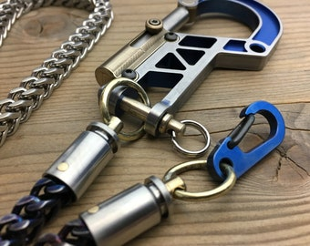 Walletchain with double swivel and Bolt Carabiner / One-off series