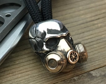 knife landyard Bead / The Skull Mask / Brass / Silver
